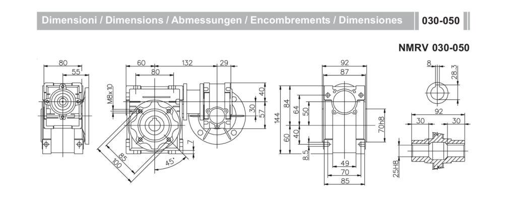 Мотор-редуктор NMRV30-NMRV50