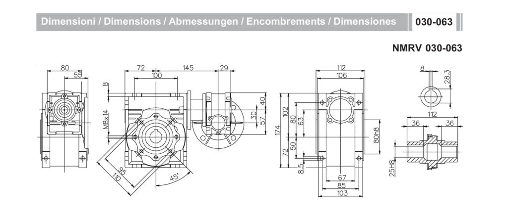 Мотор- редуктор NMRV30-NMRV63