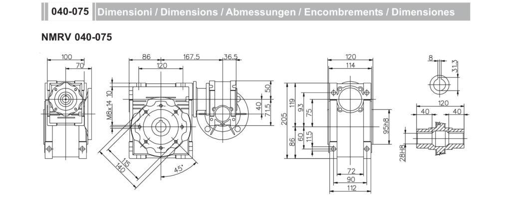 Мотор- редуктор NMRV40-NMRV75