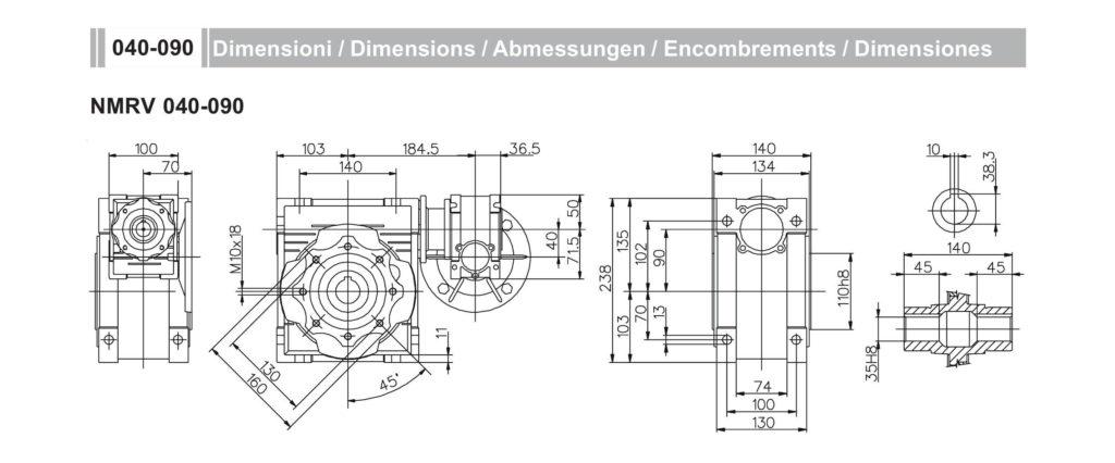 Мотор- редуктор NMRV40-NMRV90