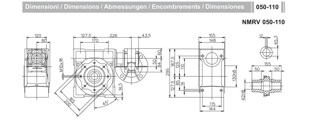 Мотор- редуктор NMRV50-NMRV110