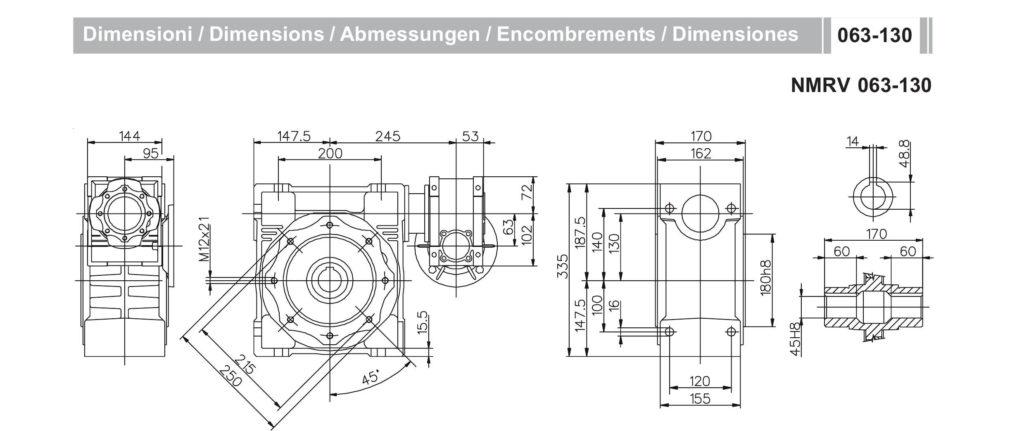 Мотор- редуктор NMRV 63-NMRV 130