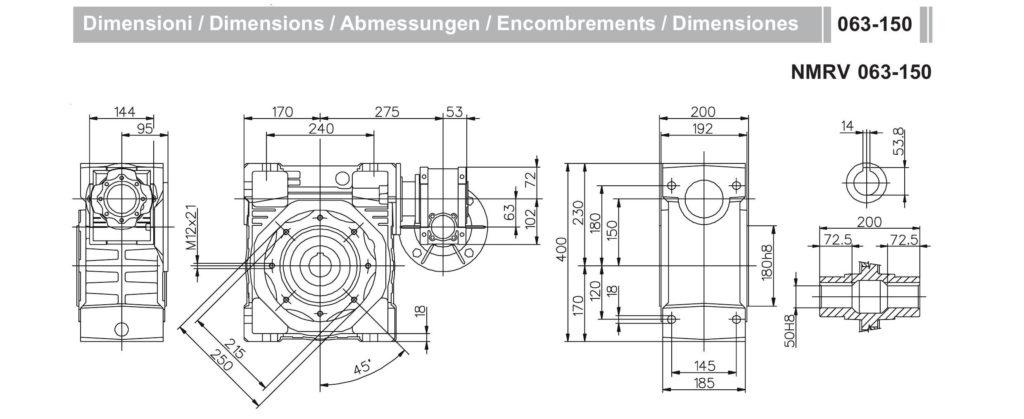 Мотор- редуктор NMRV_63-NMRV_150